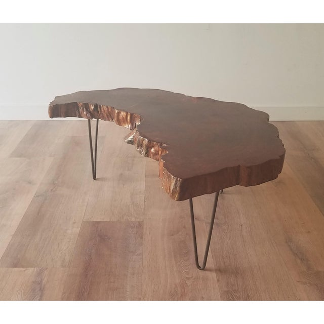 1960s Mid-Century Modern Live Edge Half Moon Side Table For Sale - Image 10 of 10