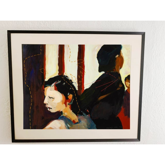 Susan Durfee Thulin 'The Dance' Large Framed Painting For Sale - Image 13 of 13
