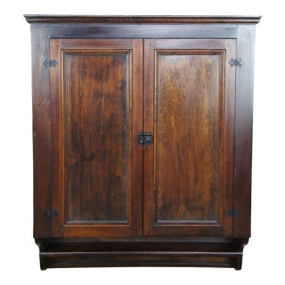 Antique Primitive Country Pine Hanging Jelly Cabinet For Sale