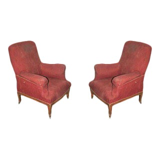 Pair of Napoleon III Armchairs For Sale