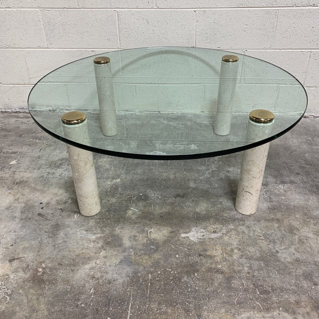 1970s Pace Collection Marble & Glass Coffee Table For Sale - Image 10 of 10