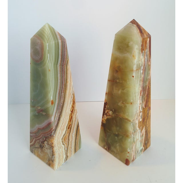 Modern Onyx Obelisks - A Pair - Image 2 of 10