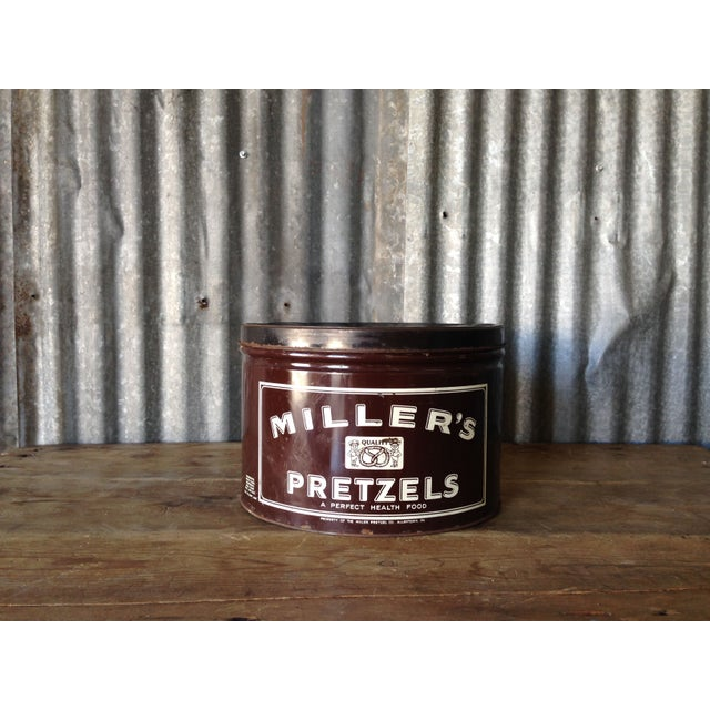 Vintage Millers Pretzels Container - Image 2 of 7