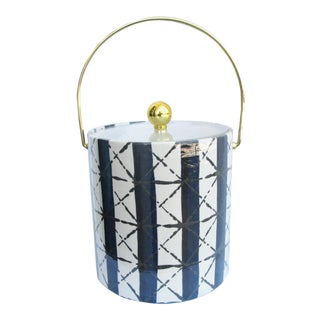 Grace Home Collection Ice Bucket in Jack/Navy For Sale