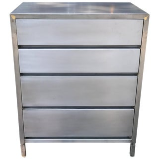Machine Age Streamlined Brushed Steel Dresser by Superior Sleeprite For Sale