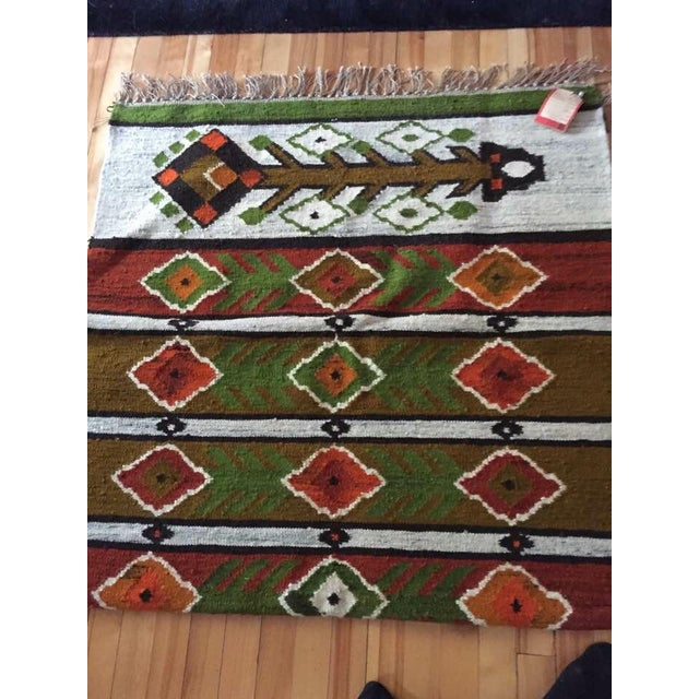 Handmade Koronka Bobowa wool rug tapestry bought in Poland in the 1980's. This rare find was kept in storage until...