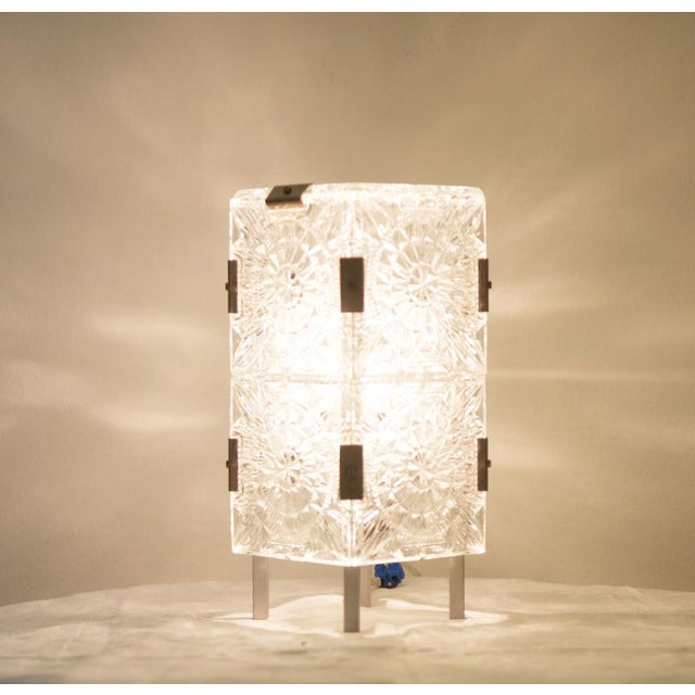Mid Century Pressed Table Lamp For Sale - Image 6 of 9
