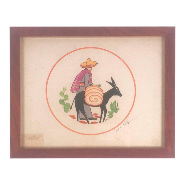 Walter Karl Titze Drawing for a Dinner Plate For Sale