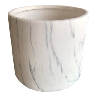 White Marble Cylinder Vase For Sale