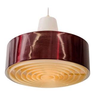 Mid-Century ModernRed Pendant Light For Sale