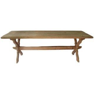 18th Century Antique French Monastery Oak Trestle Table For Sale