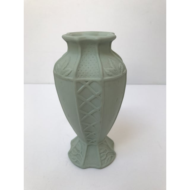 Fitz and Floyd Matte Green Candlestick Holder - Image 4 of 6