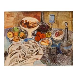 1940s Raoul Dufy Original Period Swiss Still Life Lithograph For Sale