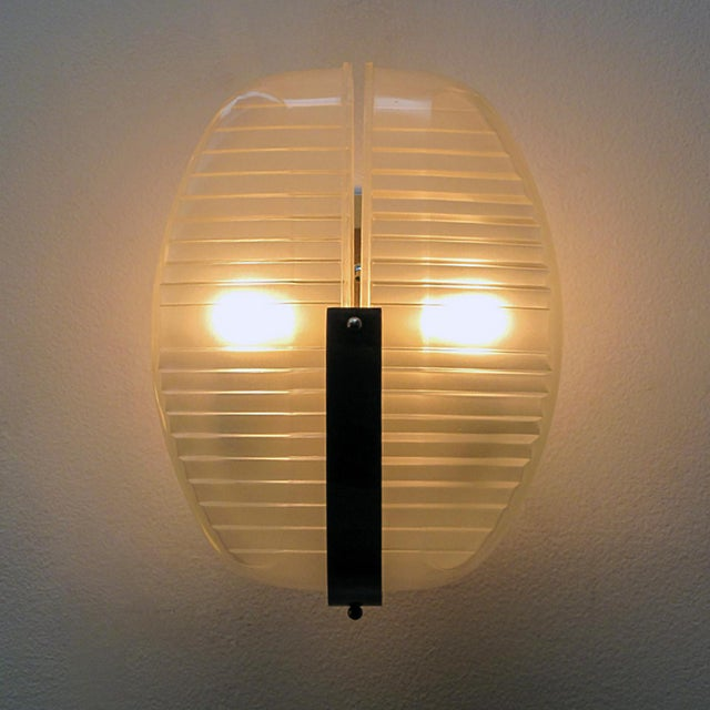 Silver Pair of Vico Magistretti Wall Lights For Sale - Image 8 of 11