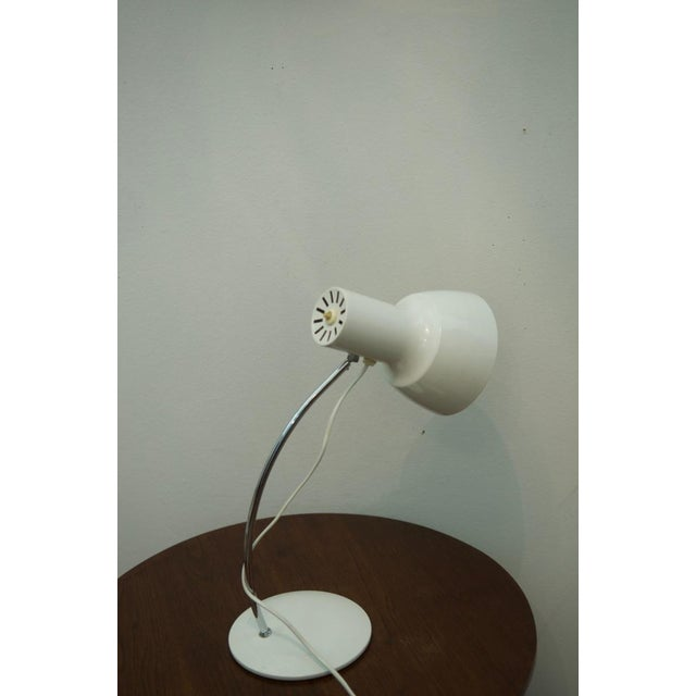 This table lamp was designed by Josef Hurka for Napako in the 1960s. It is made of aluminum and steel. This listing is for...