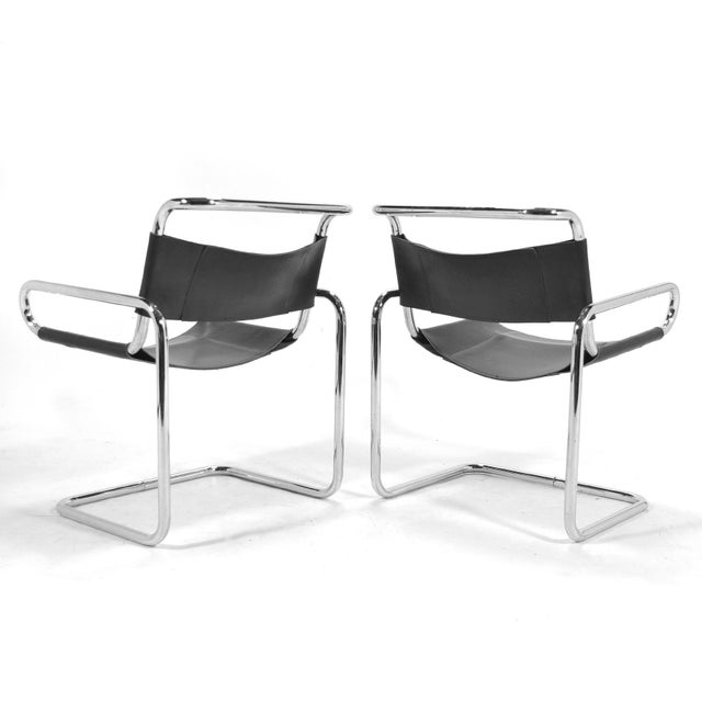 "Metal Ralph Rye Pair of ""RYE""Chairs by Dunbar For Sale - Image 7 of 9"