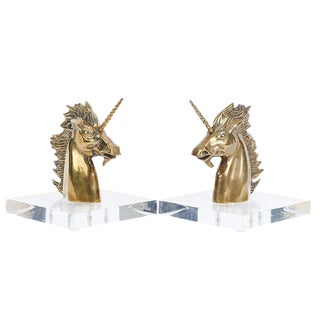 Sabin Unicorn Bookends - A Pair For Sale