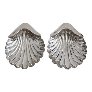 Antique Sterling Shell Dishes, Pair