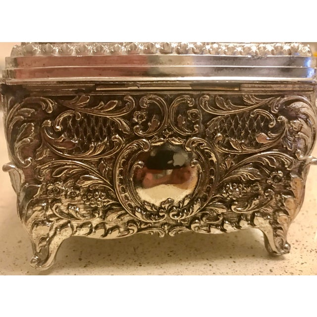 Asian Chinese Silver Cigarette Box For Sale - Image 3 of 8