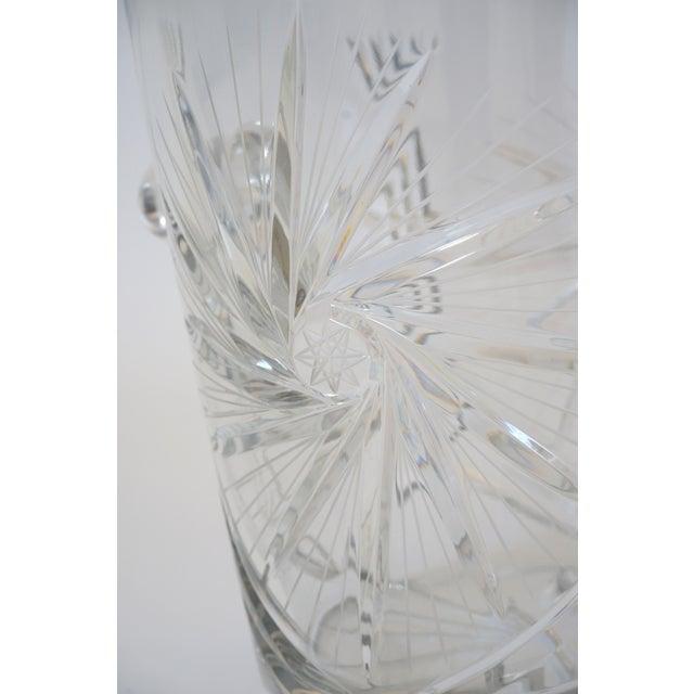 Vintage Ice Bucket Lead Crystal Pressed Design For Sale - Image 10 of 13