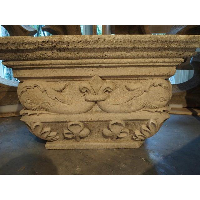 Antique Beige Limestone Statue Pedestal from France, Savonnières-en-Perthois, 19th Century For Sale - Image 11 of 11