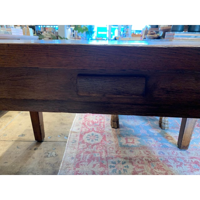 Antique Primitive Dining Table For Sale In Los Angeles - Image 6 of 10