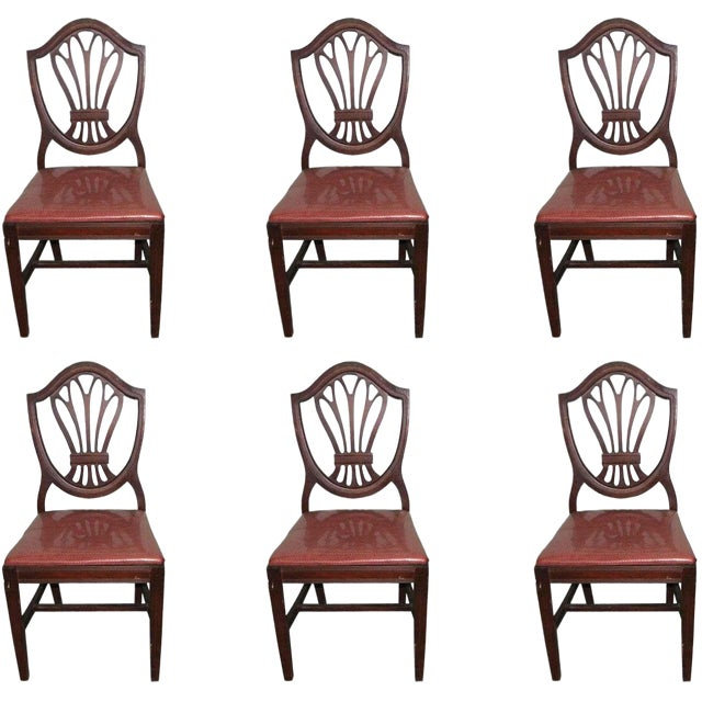Classic Mahogany Dining Chairs - Set of 6 For Sale