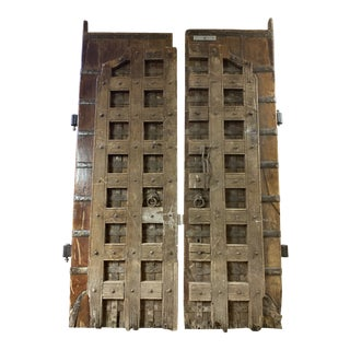 Antique Castle Doors - a Pair For Sale