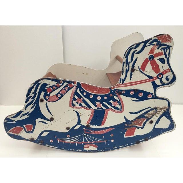 Antique Children's Rocking Horse For Sale - Image 4 of 9