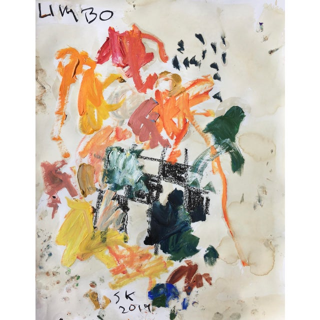 Abstract Abstract Oil Painting by Sean Kratzert, 'Limbo' For Sale - Image 3 of 3