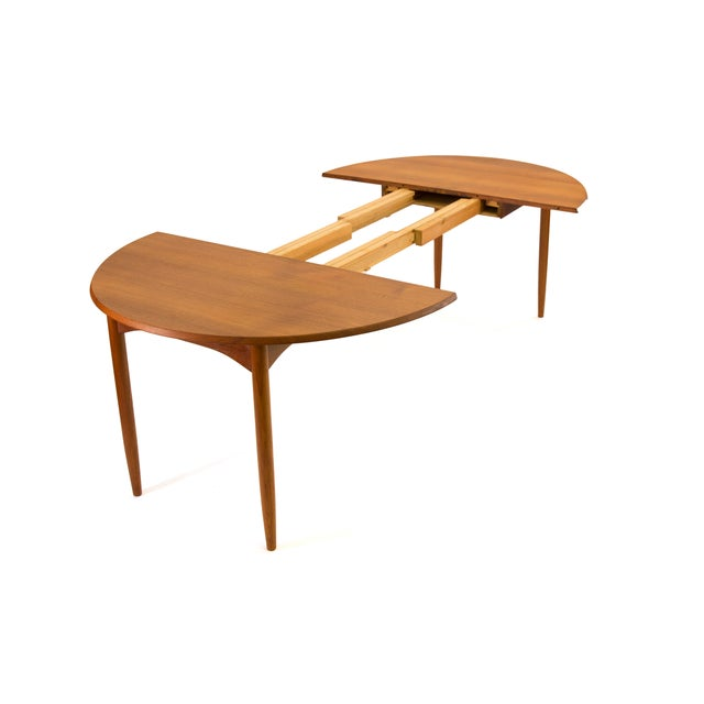 1950s Arne Vodder Sibast - Mid- Century Solid Teak Dining Table With 2 Leaves. For Sale - Image 5 of 12