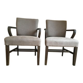 Gabby Wylie Transitional Oak Armchairs - a Pair For Sale