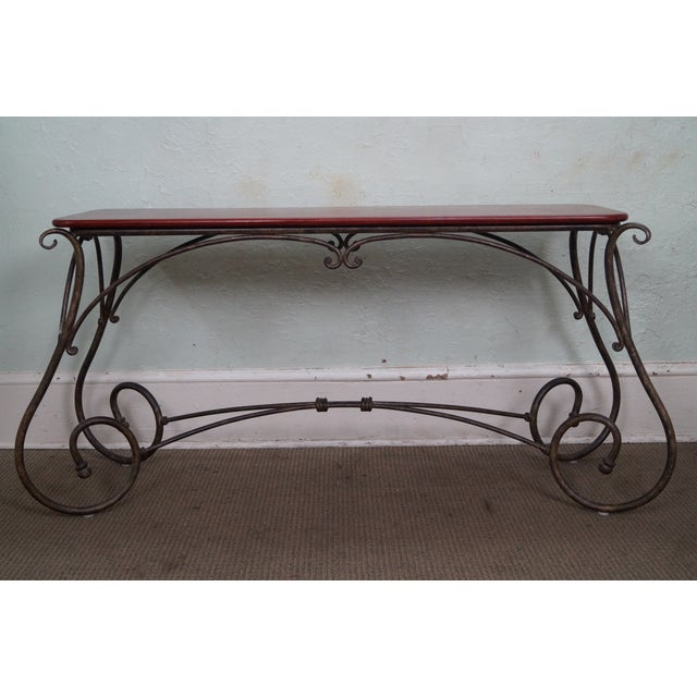 Brown Jordan Tuscan Style Console Table - Image 2 of 10