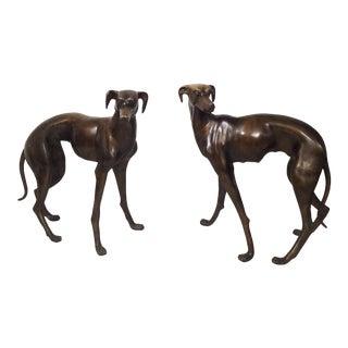Vintage Bronze Dog Statues For Sale