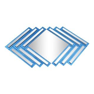 Postmodern Geo Diamond Wall Mirror For Sale