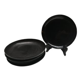 Chinese Black Lacquer Dishes - Set of 5 For Sale