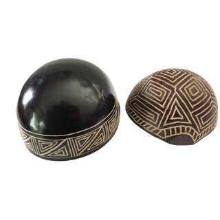 Gourd & Coconut Shell Bowls - a Pair For Sale