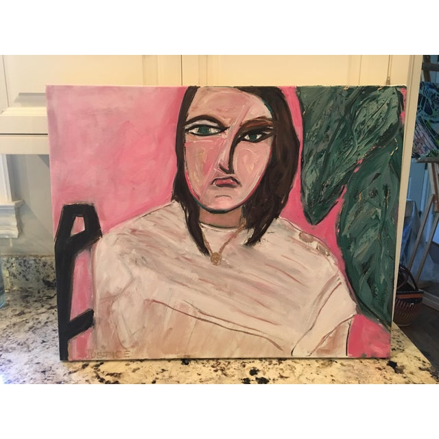 """""""She meant business"""" Original Oil Painting by Jj Justice - Image 3 of 10"""