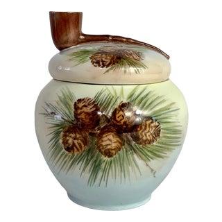 Antique Pinecone Motif Tobacco Jar Humidor For Sale