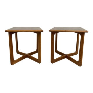 Lane X Base Side Tables - a Pair For Sale