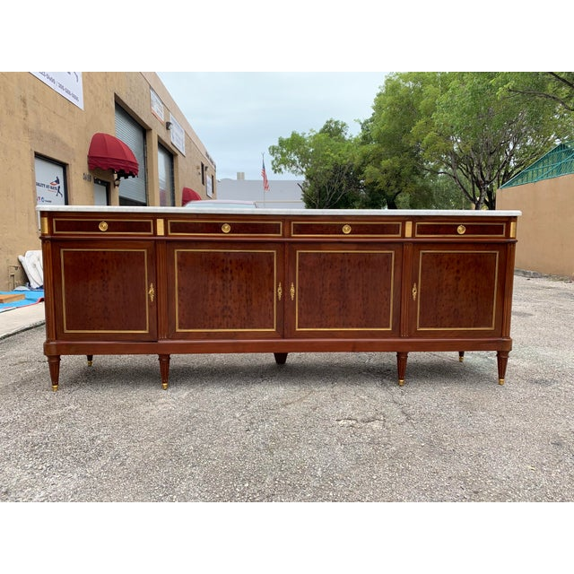 1910s French Louis XVI Antique Mahogany Sideboard For Sale - Image 10 of 13