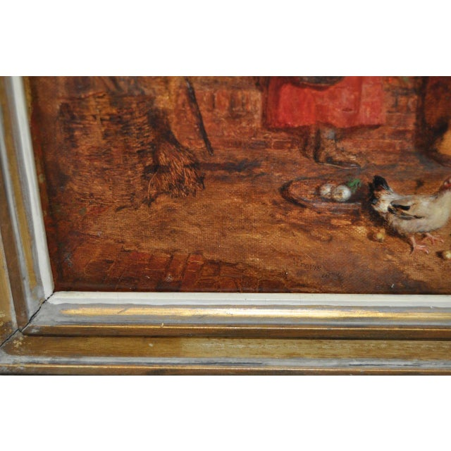 """Alfred Provis """"Young Domestic"""" Original Oil Painting - Image 6 of 10"""