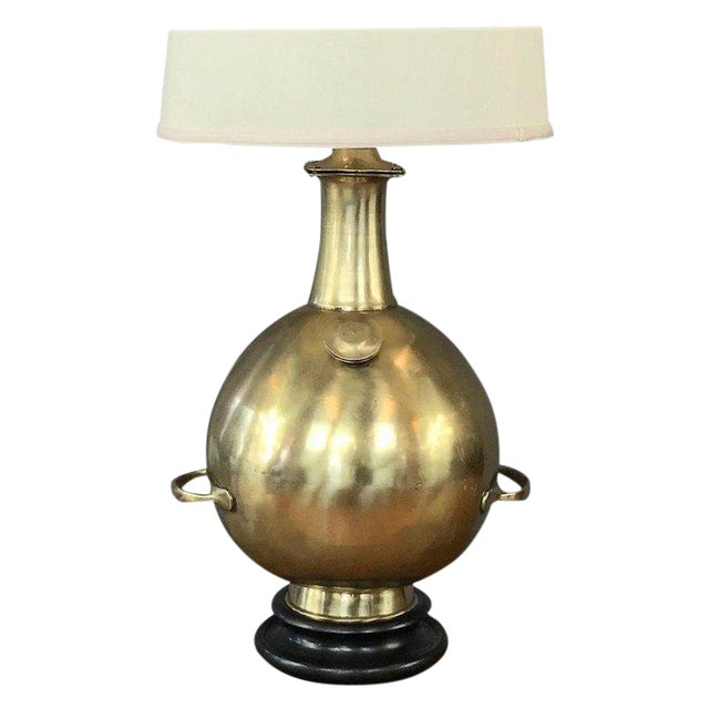 Marlboro Monumental Solid Brass Diving Bell Table Lamp