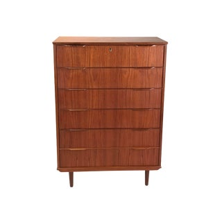 1960s Danish Modern Teak Dresser For Sale