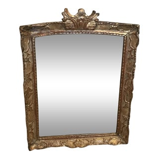 19th Century French Gold Giltwood Mirror For Sale