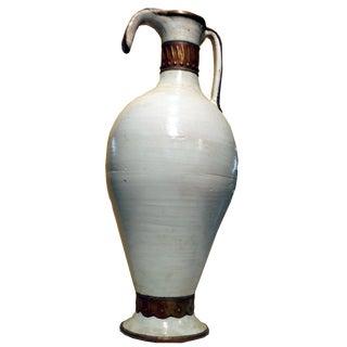 Boho Chic Decorative Fez Water Ceramic Pitcher Vase