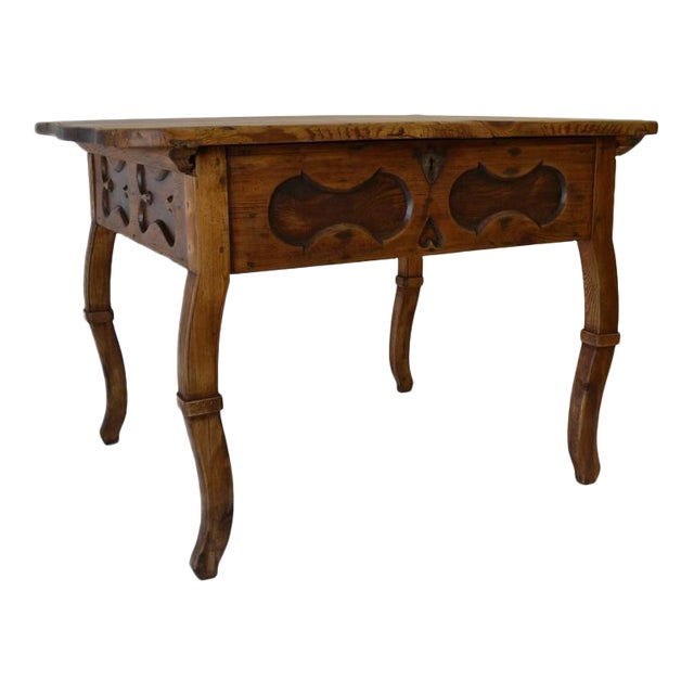Pitch Pine and Oak Baroque Revival Centre Table For Sale