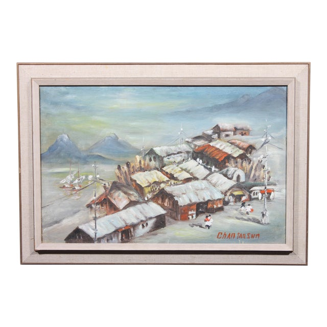 Huddled Village by Chan Tan Swn For Sale