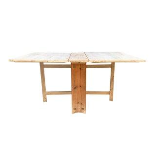 18th Century Swedish Gustavian Period Gateleg Dining Table For Sale