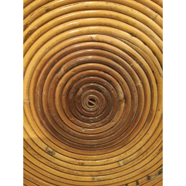 1980s Boho Chic Pencil Reed Side Table For Sale In West Palm - Image 6 of 10